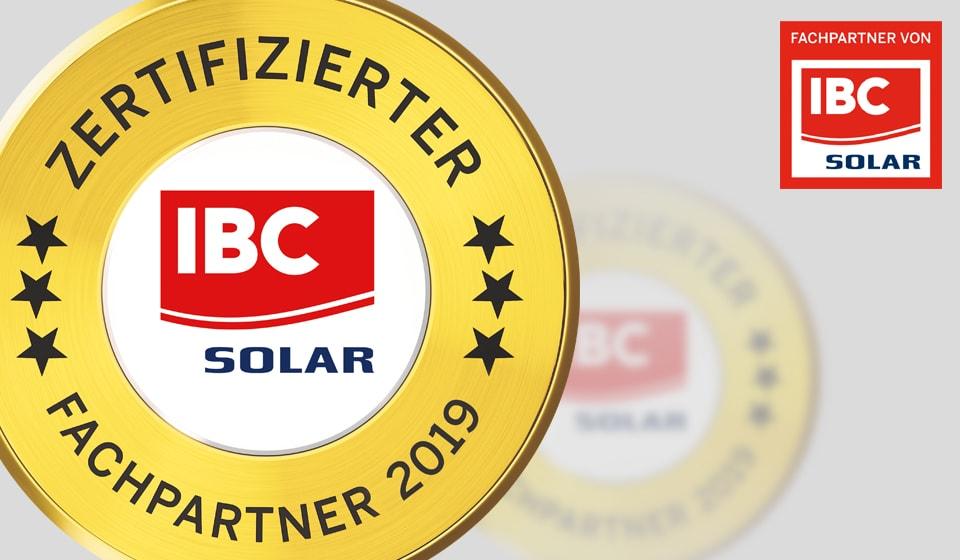 IBC SOLAR Fachpartner gold 2019