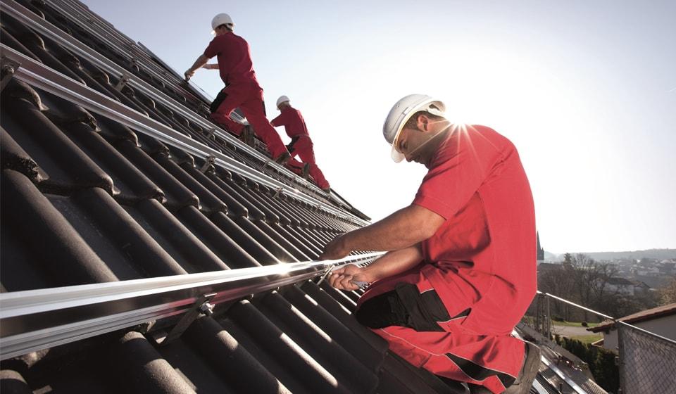 PV Montage auf Dach